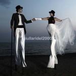 """Coppia Trampolieri """"Sposo & Sposa"""" per Benvenuto Nuziale…Euro ......*"""