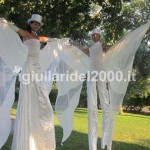 Coppia Trampolieri White per Accoglienza Elegante degli Sposi …Euro ......*