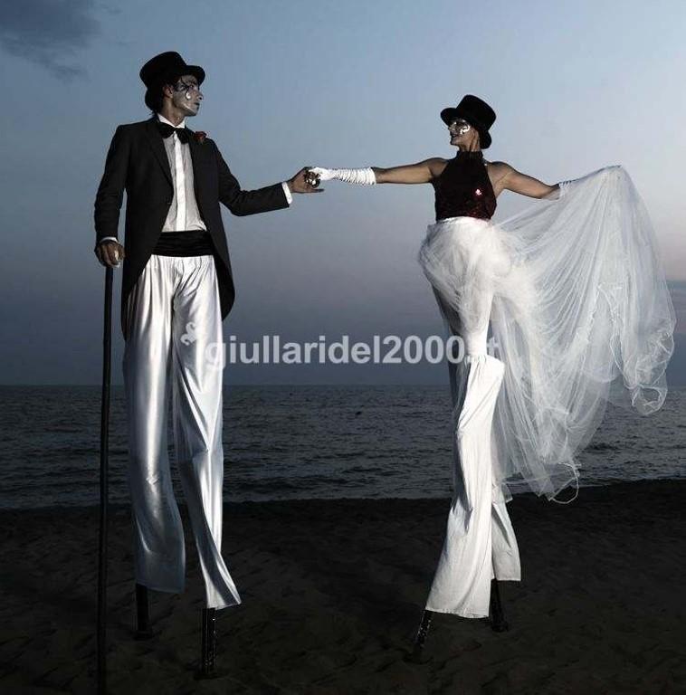 Trampolieri Sposo e Sposa per Accoglienza Ospiti
