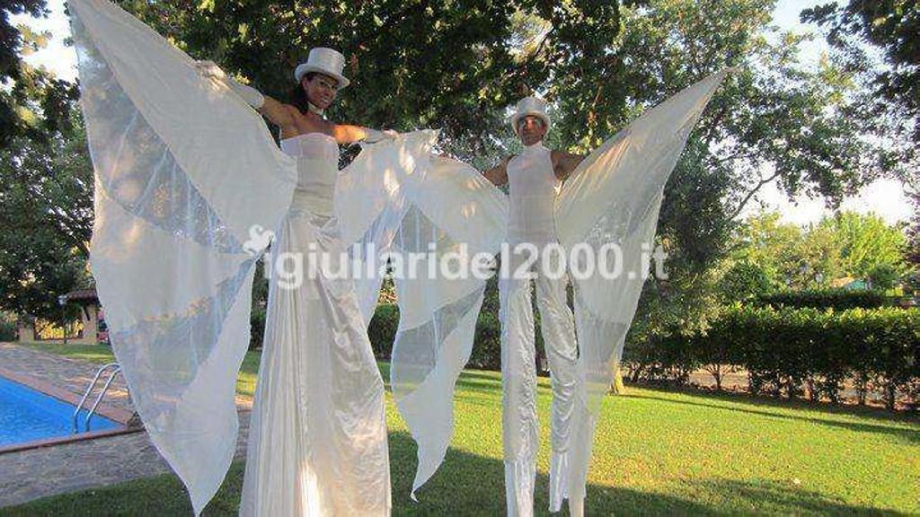 Trampolieri Eleganti White per accoglienza Sposi