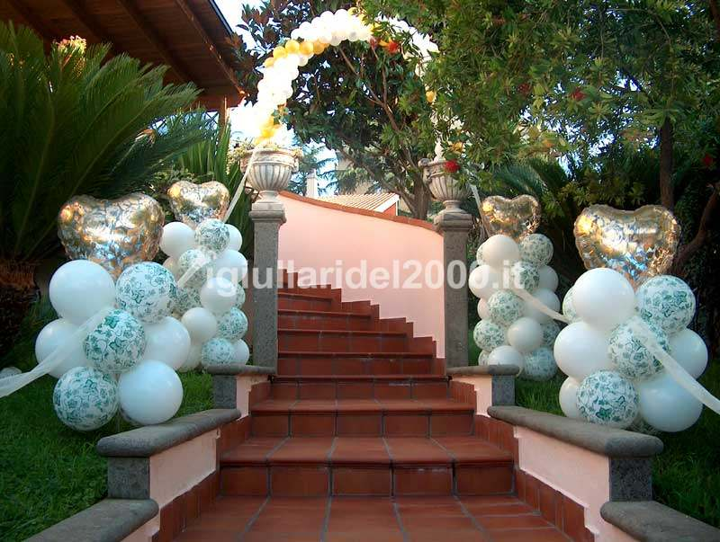 Addobbi in palloncini animazione per matrimonio - Addobbi matrimonio casa ...