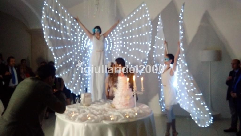 Show Farfalle Luminose a Led per Taglio Torta Nuziale