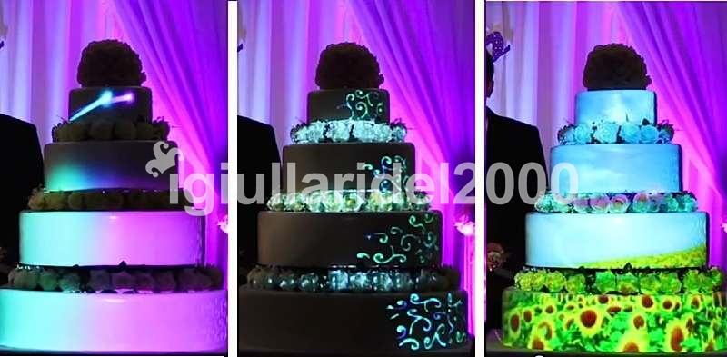 Show delle Luci su Torta Nuziale doc